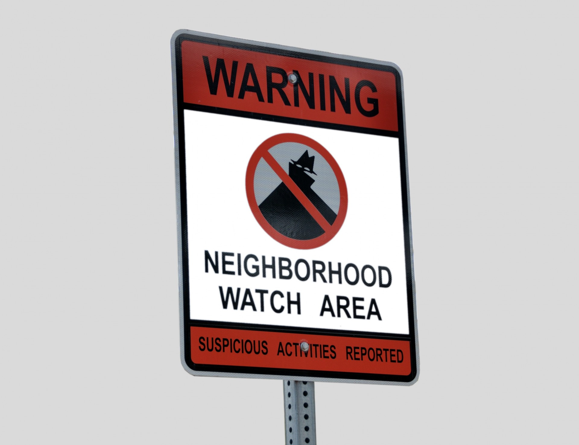 Warning - Neighborhood watch sign post